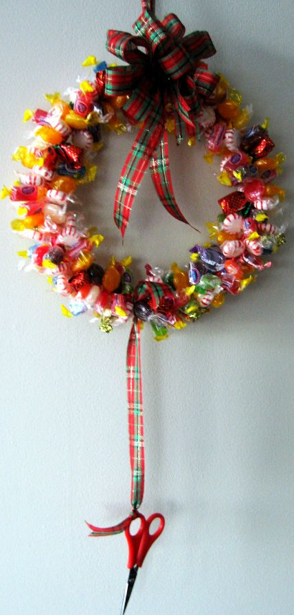 Candy wreath finished