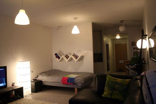 ワンルームのシンプルレイアウト 一人暮らし部屋 インテリア