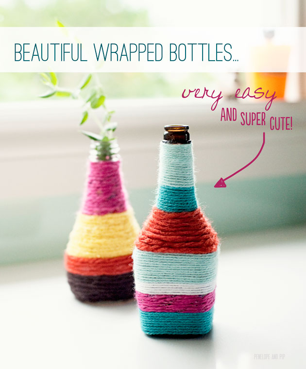 Beautiful wrapped bottles