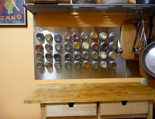 Wall Mounted Magnetic Spice Rack