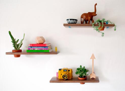 Diy modern wooden shelves feature large