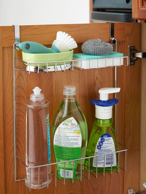 Metal back of door organizer bhg