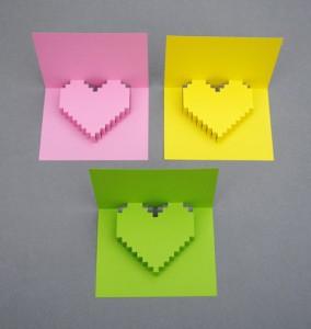 手作りバレンタインカードの作り方いろいろハートが飛び出す