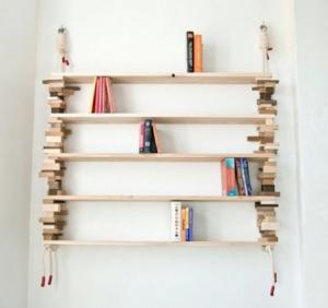 手作りナチュラル本棚