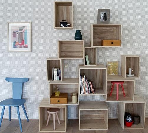 箱積み本棚DIY