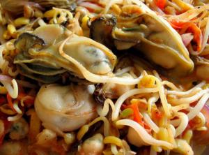 牡蠣炒めレシピ