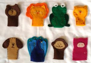かわいい動物の指人形の作り方