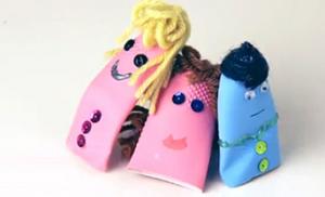指人形ゴム手袋作り方
