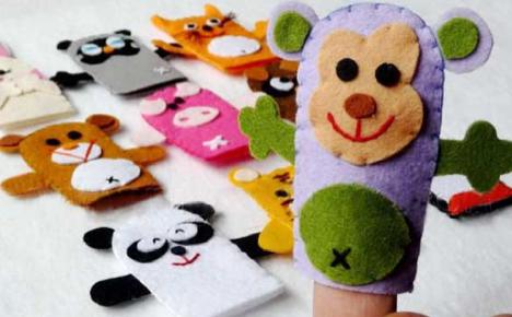 動物の指人形フエルト作り方