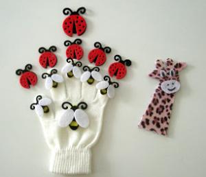 虫の手袋指人形の作り方