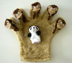 モンキーの手袋指人形の作り方