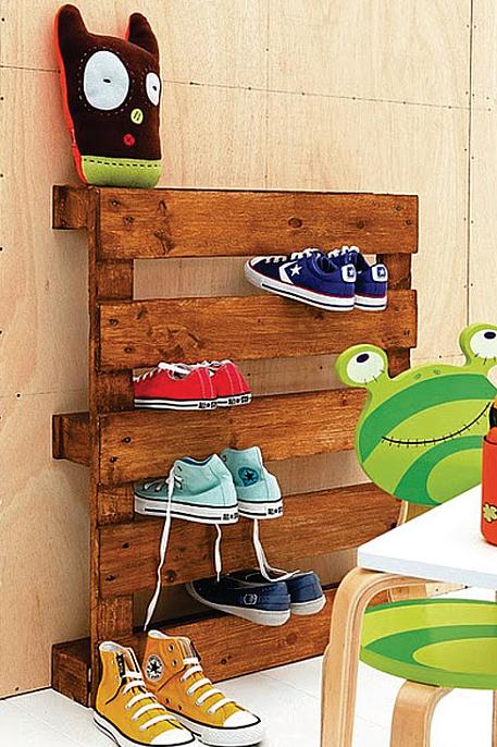 子供靴の収納すのこ