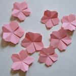 桜の花びらの折り方