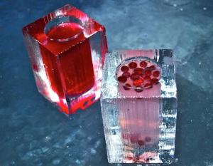 氷のグラスatアイスバー