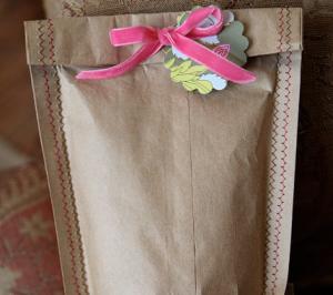 紙袋を縫う・ラッピング方法