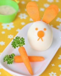 ゆで卵のウサギ