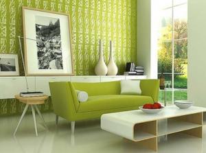 すっきり緑の居間