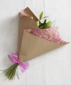 お花の包み方