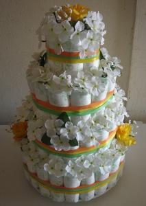 オムツケーキの作り方