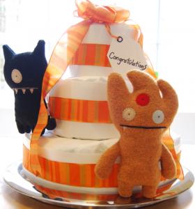 手作りダイパーケーキ