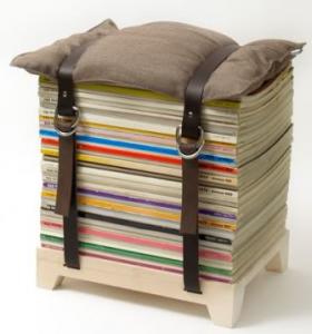 雑誌リサイクル椅子