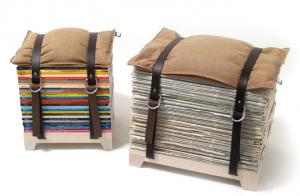 新聞紙リサイクル家具