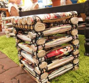 雑誌のサイドテーブル作り方