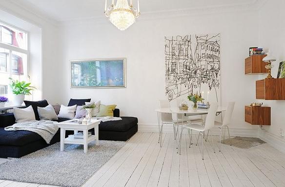 スウェーデンのリビングルーム