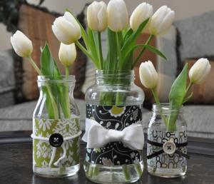 空き瓶リメイク花瓶