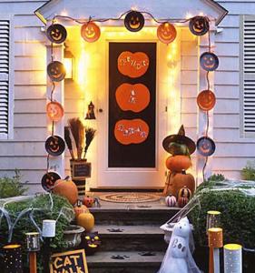かぼちゃお化けのデコレーション方法