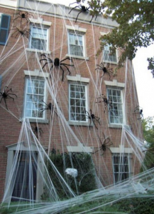 蜘蛛の巣の飾り方