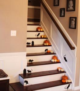 ハロウィン階段デコレーション
