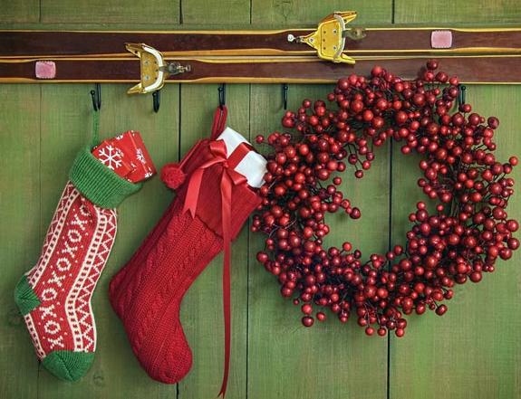 玄関クリスマスデコレーション方法