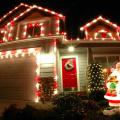 サンタのライトアップ飾り