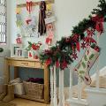 階段レールクリスマス飾り