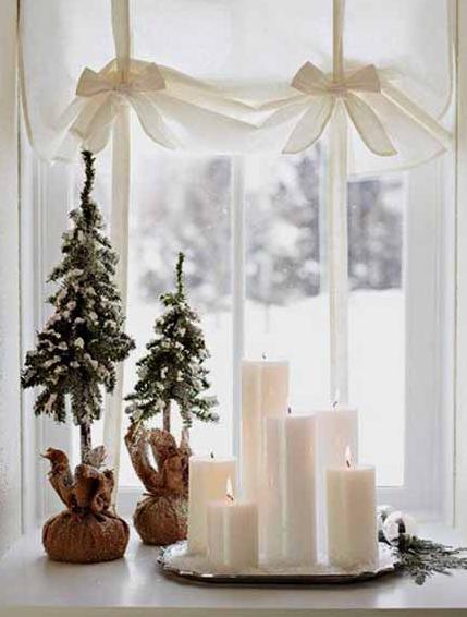 クリスマス窓周り飾り方