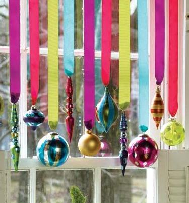 クリスマス窓飾り方例