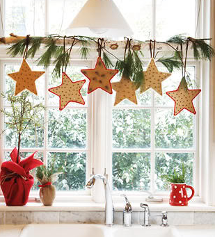 窓クリスマスデコレーション
