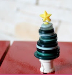 ボタンのクリスマスツリークラフト