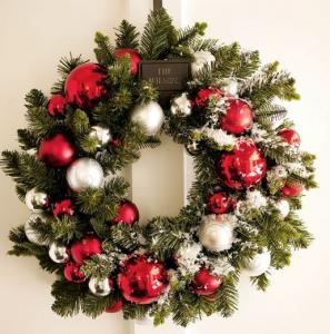 おしゃれなクリスマスリース