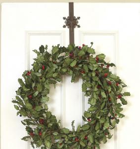 クリスマスリースの吊るし方