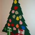 手作りフェルトクリスマスツリー