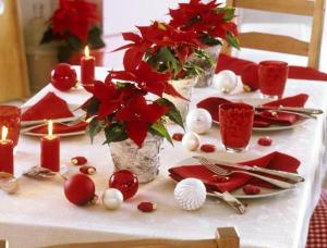 クリスマステーブルデコレーション飾り方