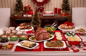 クリスマスパーティ料理盛りつけ例