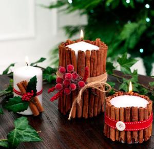 簡単クリスマスキャンドルギフト作り方