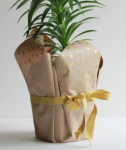 鉢植えの手作りラッピング方法