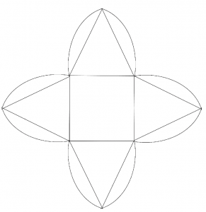 手作りピラミッド型ギフトボックス