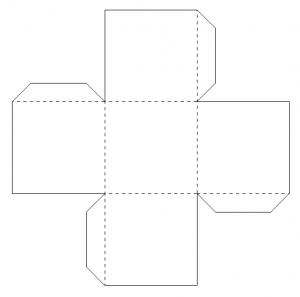 ギフト箱テンプレート折り紙