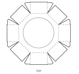 8角形ギフトボックステンプレート