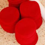 手作りバレンタインリース材料